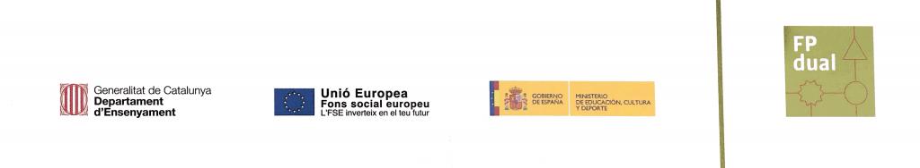 Signat conveni de col.laboració dual amb la Generalitat Catalunya, Departament Ensenyament .