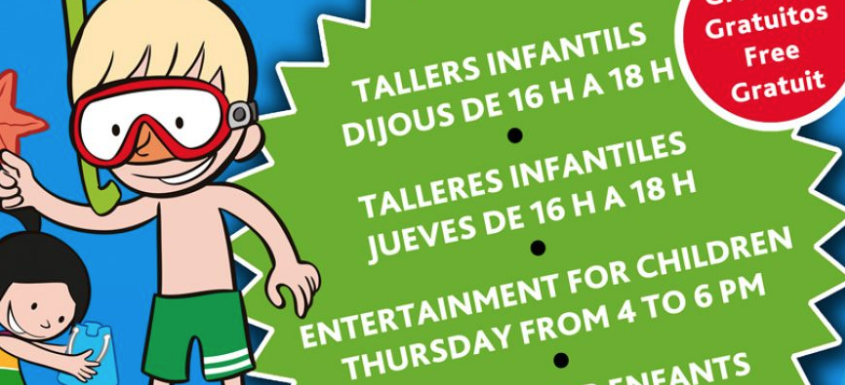 Tallers familiars Mini Beach Club 2018 - Inmocosta API Estartit
