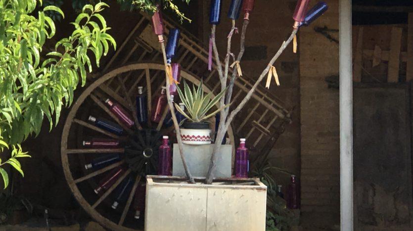 Embustiada Inmocosta Carro decorat amb ampolles de aigua Solan de Cabras Gaüses