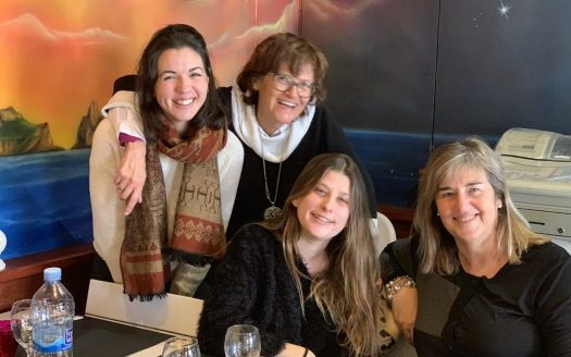 Comiat de Cristina, Renate Hutter, Judith Payet i Eva Ruiz