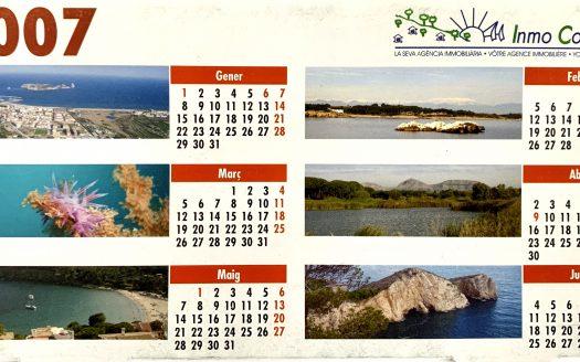 tercer calendari-inmocosta-api-l'estartit-l'escala-sobretaula 2007