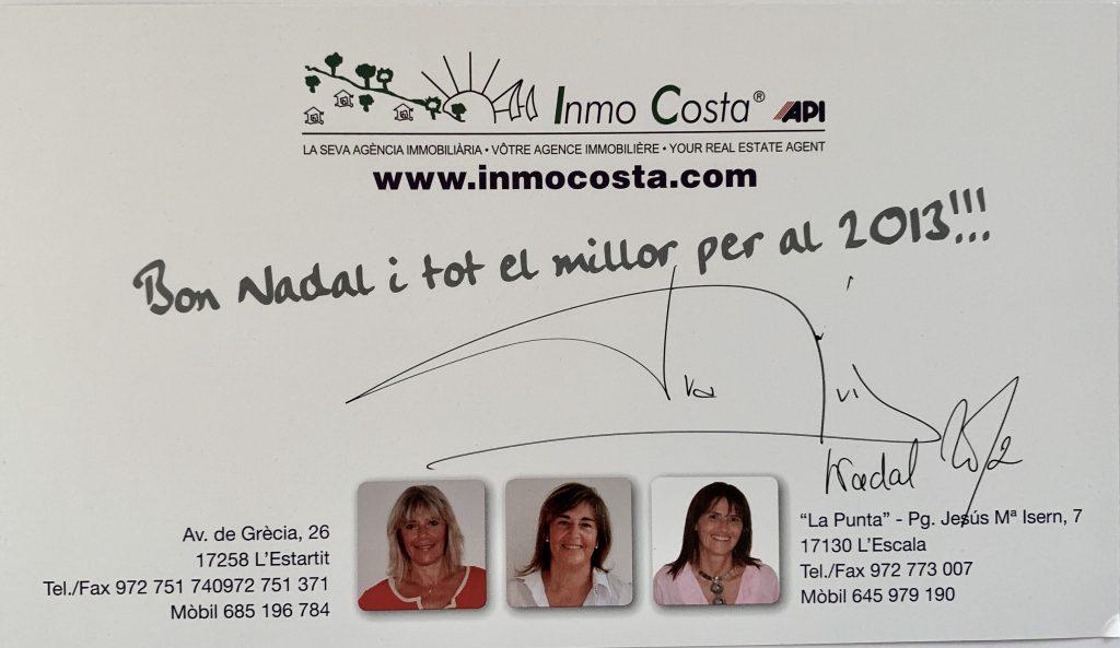 Nadal 2012 Inmocosta API felicitacio nadal Merry Christmas Inmocosta Api 2012